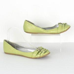 "Dollhouse ""Hoofer-23"" Green Flats Womens 7 SL"
